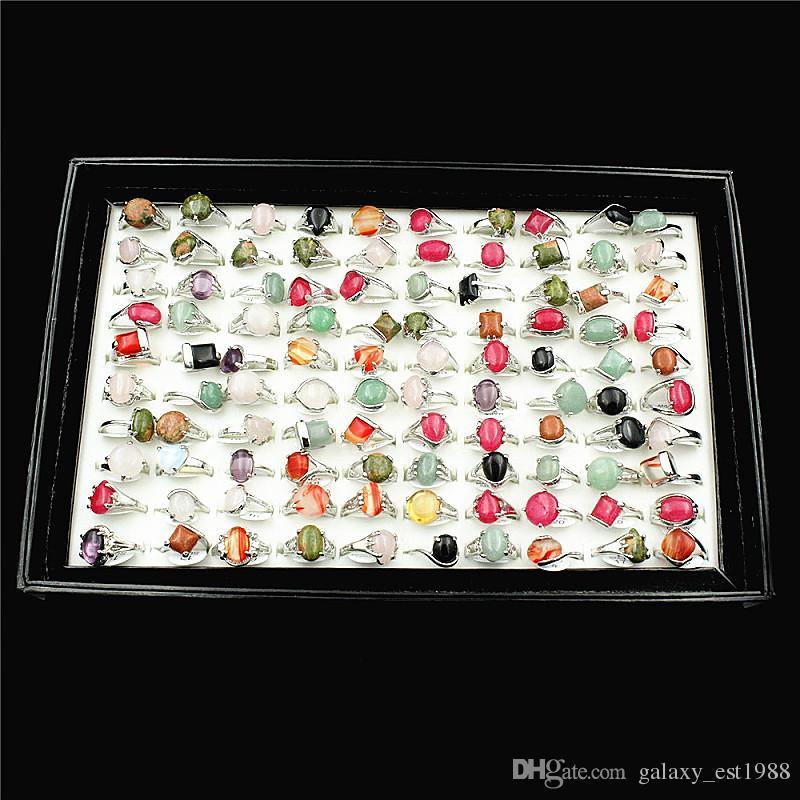 Vendita calda all'ingrosso lotti misti 30pcs da donna in lega di metallo moda gioielli Anelli di partito Brand New E3021