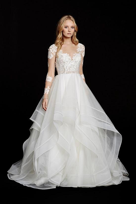 Discount Modest Keyhole Back Hayley Paige Corset Wedding Dresses ...