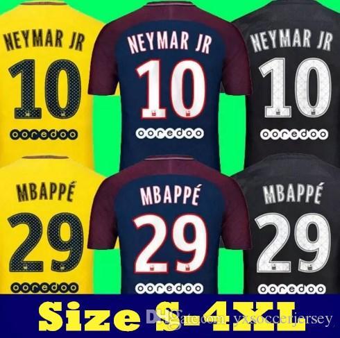 buy online 3256b 2804e 2018 Top Thai Quality Maillot De Foot Kylian Mbappe Neymar Jr Soccer  Jerseys 2018 Draxler Dani Alve Jersey 17 18 Camisa Cavani Verratti Shirt  From ...