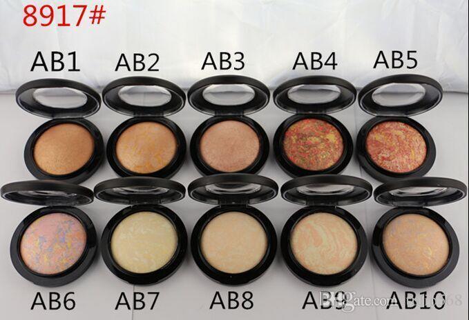 1 pz 2016 mineralizzare la polvere di trucco skinfinish in polvere naturale 10 colori viso polvere 10g