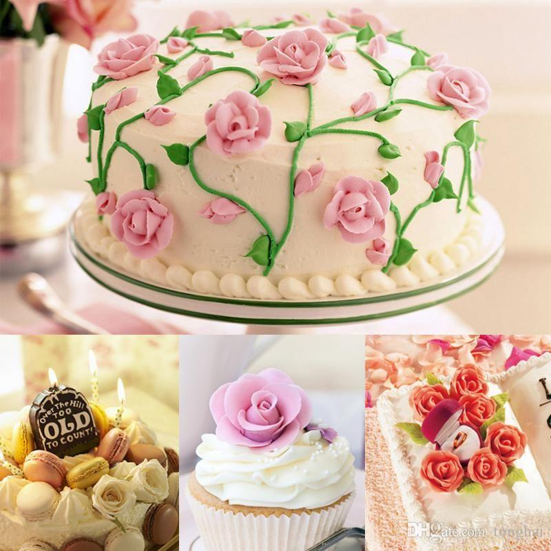 Atacado ferramentas de cozimento da flor do açúcar de confeiteiro cremoso prego 403 aço inoxidável sugarcraft cupcake ferramenta de decoração de flores sólidas h210291