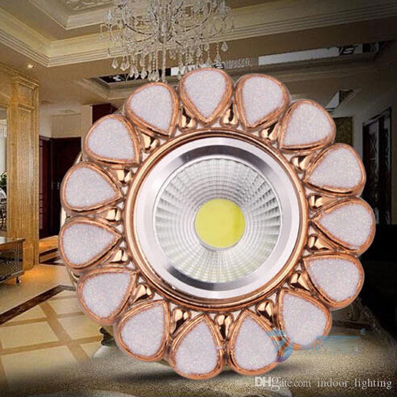 50 pçs / lote Modern downlights sala de estar de estilo Europeu jardim resina pano de fundo levou iluminação do corredor 3 w