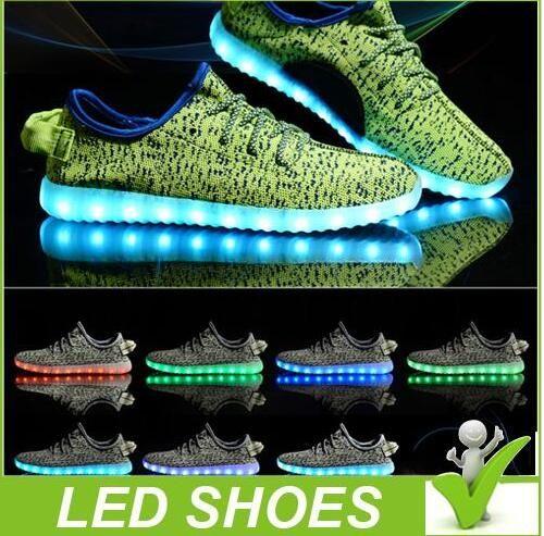 7 LED Light Lace Up Luminous Shoes Sportswear Sneaker Casual Shoes Unisex