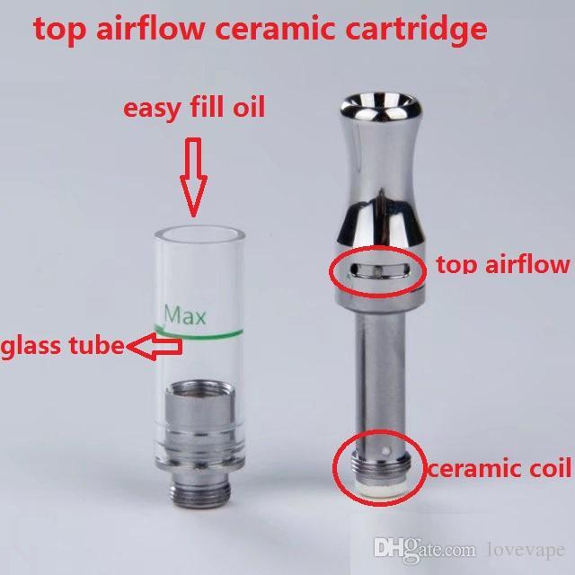New design leakproof cartridge ceramic coil 510 thread vape cartridges ceramic wickless disposable clearomizer cart vaporizer pen cartridges