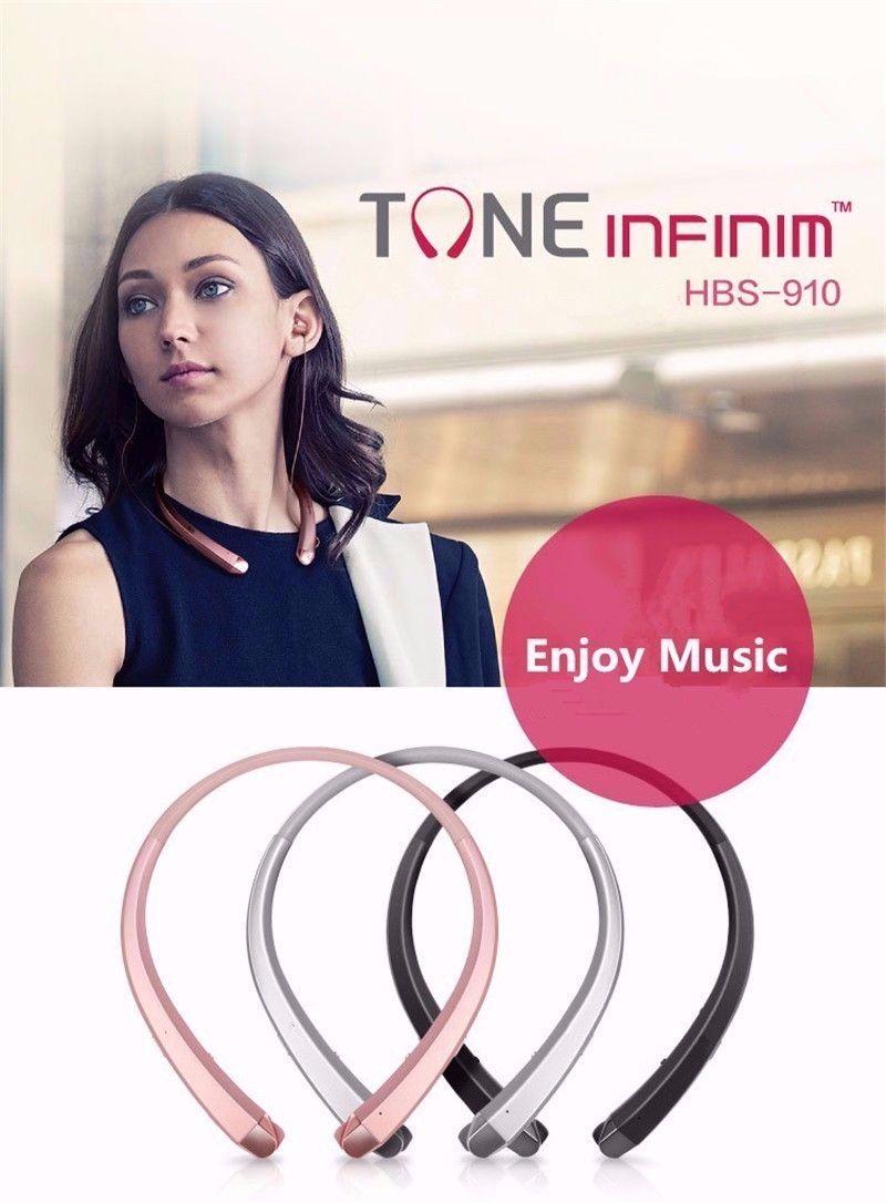 HBS 910 HBS-910 Headphone HBS910 Earphone Sports Stereo Bluetooth 4.0 Wireless Headset Headphones With Package