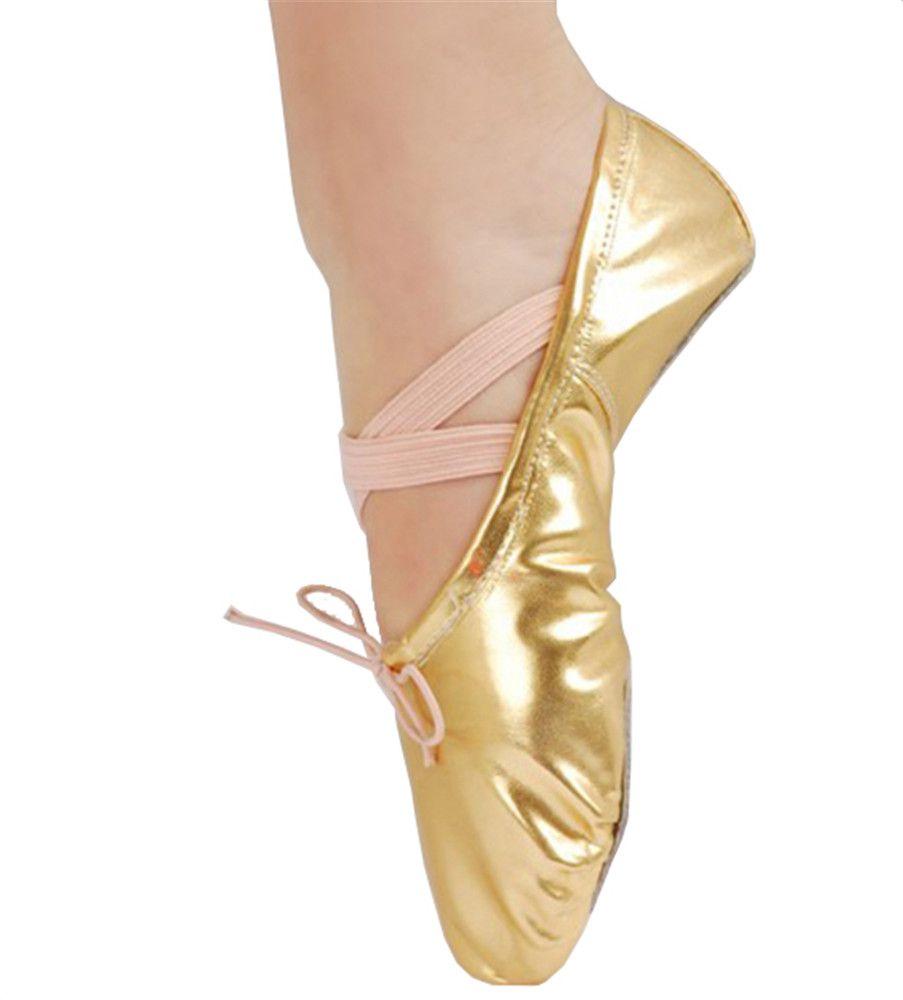 Женские кожаные балетные туфли в горошек из искусственной кожи с блестками для гимнастики Yoga для живота Обувь для бальных танцев