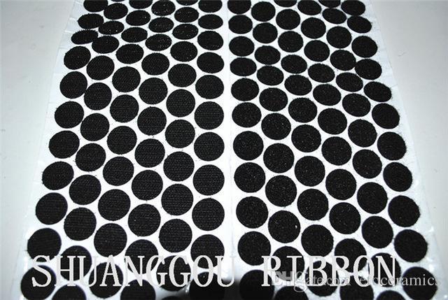 5/8 '' (16 mm) Diámetros monedas, 1000 sets, puntos de fijación de respaldo adhesivo. Gancho y lazo redondos adhesivos H210917