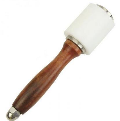 10 stücke New Nylon Hammer Leder handwerk Carving Hammer Nähen Leder Rindsleder Tool Kit mit Holzgriff