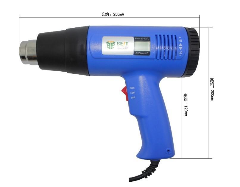 BEST 8016 Heißluftpistole Handheld LCD Display Elektronische Heißluftpistole 220 V 1600 Watt Für SMT SMD Rework Reparatur