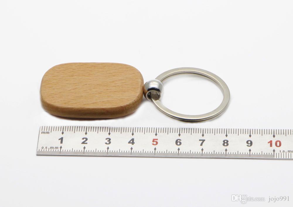 فارغة مستطيلة خشبية مفتاح حلقة الخشب مخصص المفاتيح يمكن أن تكون جديدة، 2016 شخصية ليزر محفورة مع أي رسالة # KW01CH انخفاض الشحن