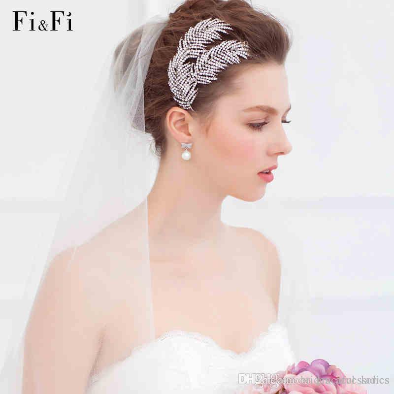 Fad Wedding Bridal Crystal Rhinestone Bridesmaid Hair Comb Hair Accessory