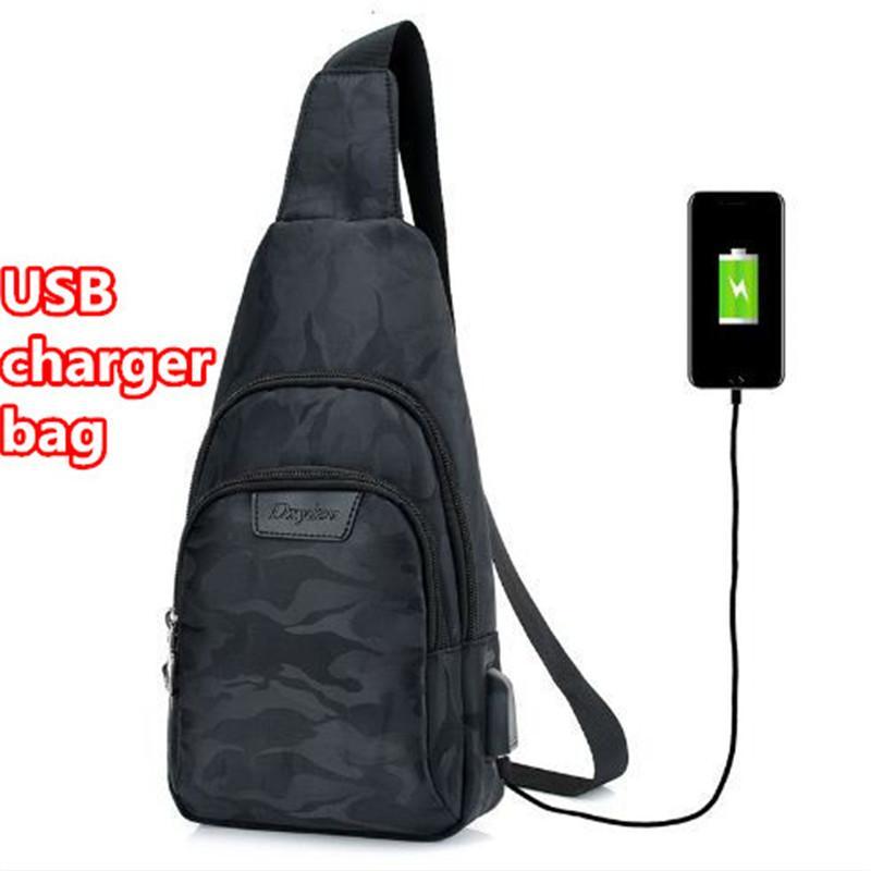 Sac à bandoulière pour homme sac à bandoulière pour homme créatif avec sac à dos et chargeur USB intégré à l'extérieur