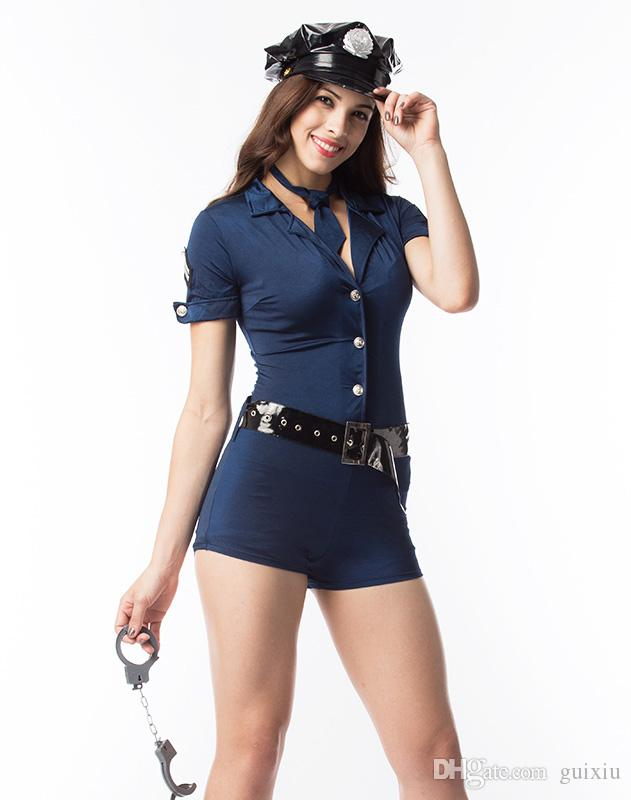Plus size Cosplay Sexy Police Costumes For Women Captain Pilot Costume Cop Teddy Costume with black ...  sc 1 st  DHgate.com & Plus Size Cosplay Sexy Police Costumes For Women Captain Pilot ...
