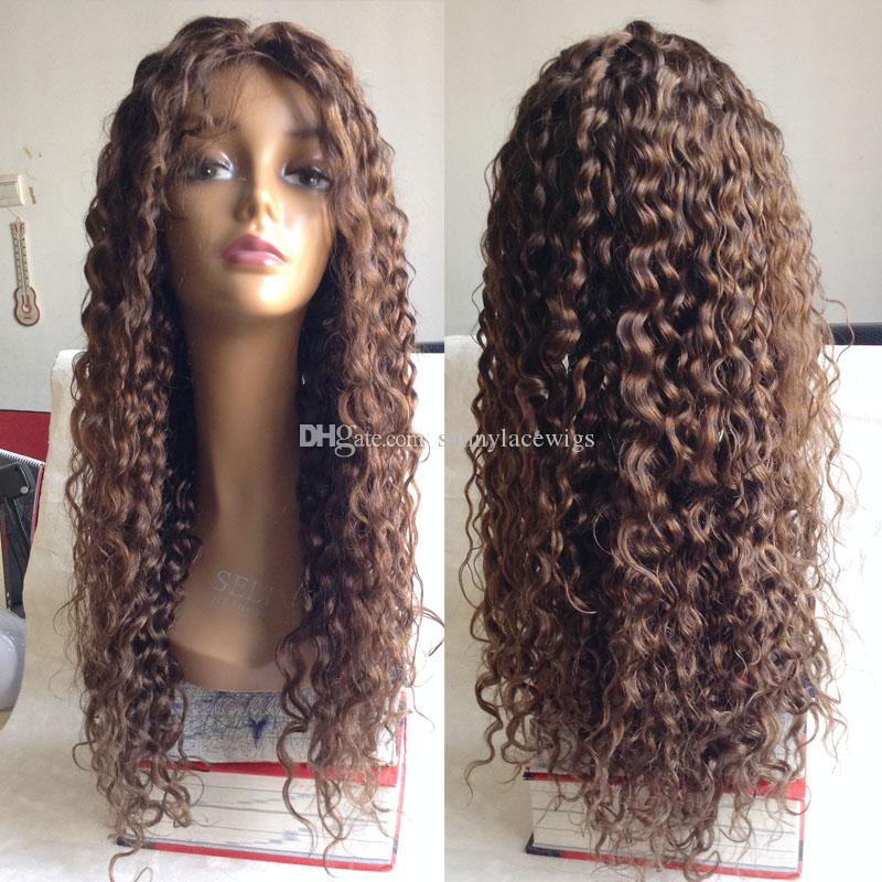 Kinky Curly Full Lace Wigs Black Women Brazilian Virgin Lace Front Human Hair Wigs With Baby Hair