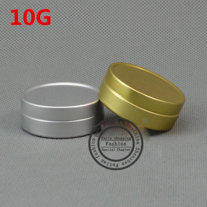100pcs, 10ml 10G алюминиевые банки для косметики могут составлять контейнеры многоразового использования пустая маленькая банка оптом