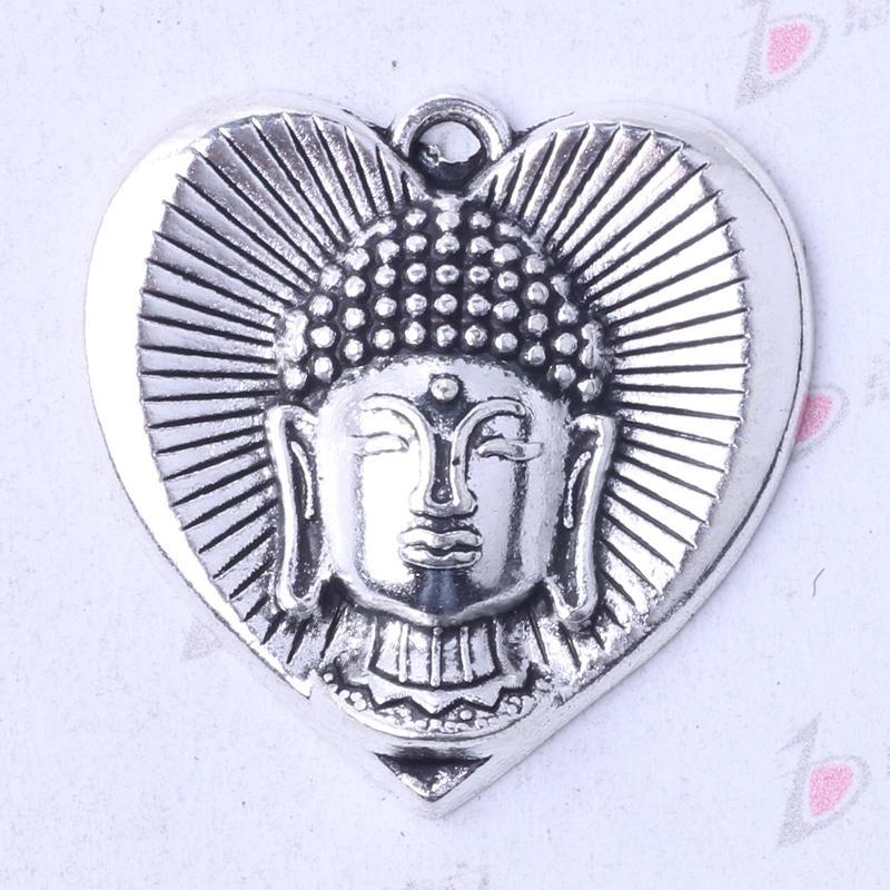 50pcs//lot Vintage Metal Mixed Hearts Charms Retro Love Pendant Jewelry Making