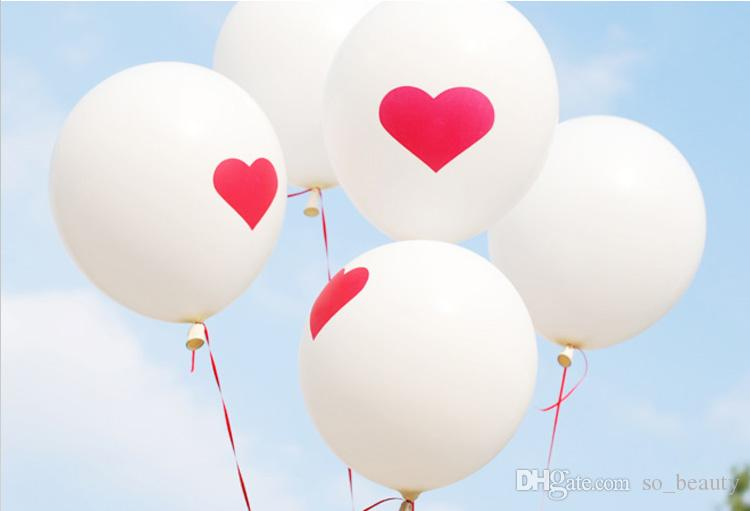 100pcs Latex Red Heart Balloons Round Balloon Party Wedding Happy Birthday Anniversary Decor 12 inch new