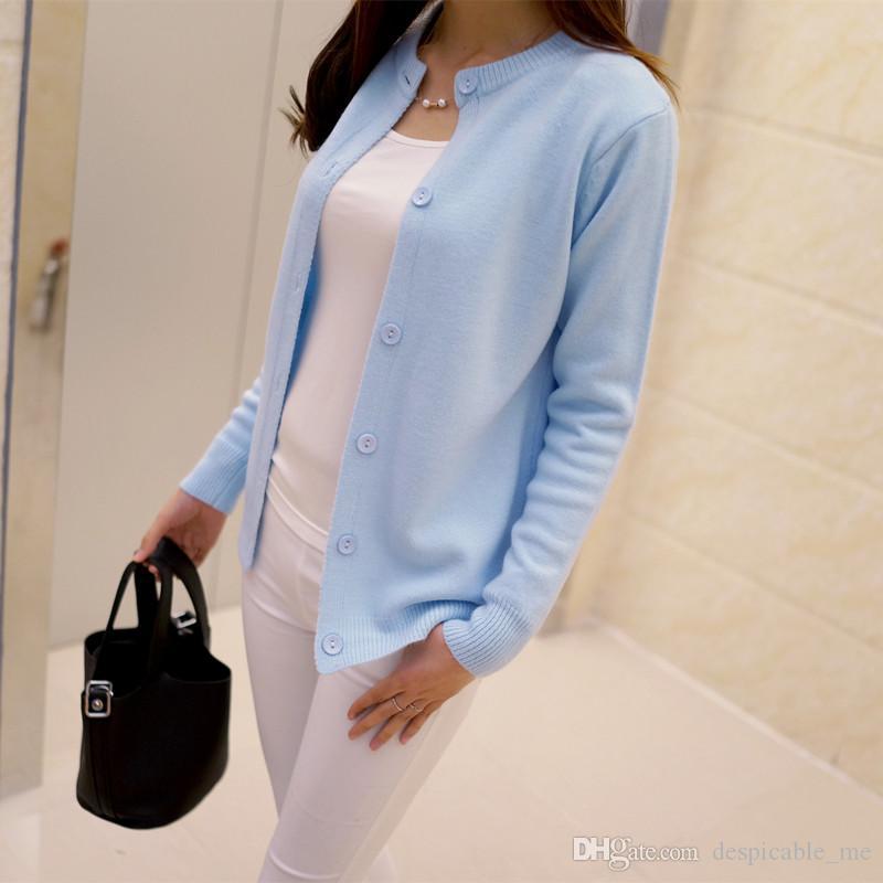 Бесплатная доставка 2020 весна круглый вырез кардиган свитер большой размер мерсеризованный хлопок сплошной цвет дикий тонкий жакет AW234567