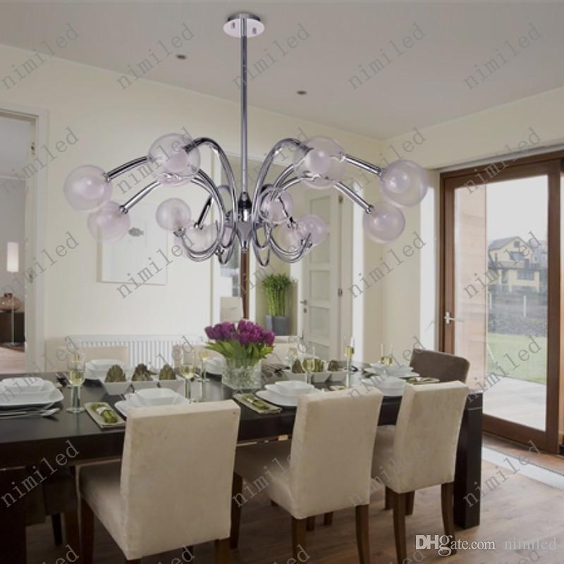 Nimi648 Italienischen Stil Modernes Design Glaskugel Klassisches Wohnzimmer Lampe Schlafzimmer LED Kronleuchter Halle Villas
