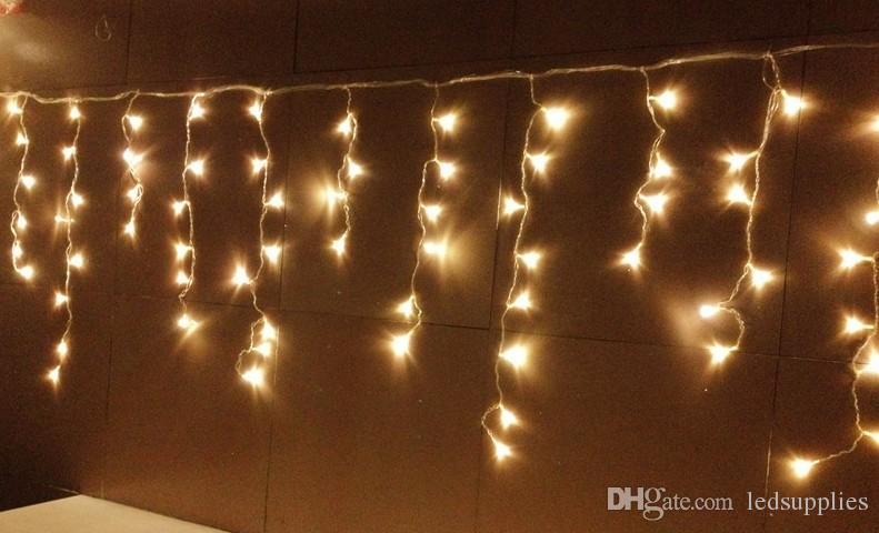 12M * 0.65 M 360 DIODO EMISSOR de Luz CONDUZIU a cortina de Luz de Fadas Cadeia de Fadas Da Lâmpada do sexo feminino masculino conector 8 Modos controlador / Festa de casamento decoração de natal