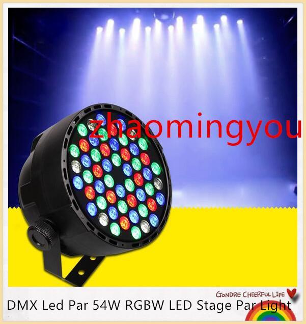 DMX Led Par 54W RGBW LED Par Light Wash Dimmerazione luci a effetto stroboscopico per discoteca DJ Party Show