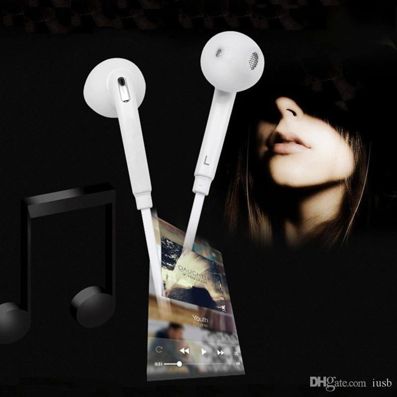 Alta qualidade s6 fone de ouvido mãos livres com microfone volume remoto para samsung s3 s4 s5 s6 borda mais s7 nota 2 3 4 5 do telefone móvel fones de ouvido brancos