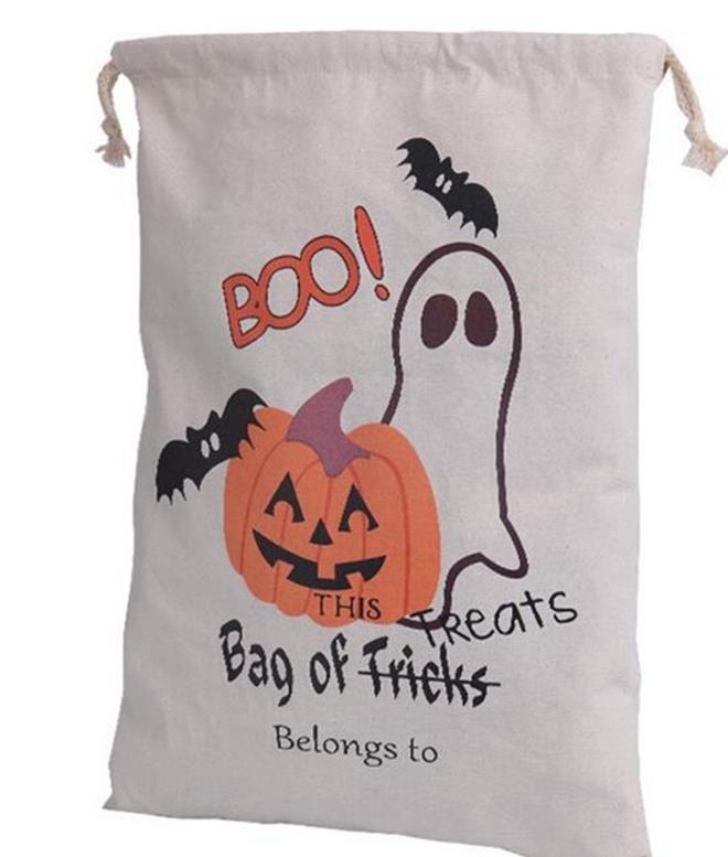 Algodón araña halloween saco niños cordón regalo o bolsa de caramelo paño de calabaza favor lienzo truco trato bolsa fiesta cosplay festivo sup qsbd