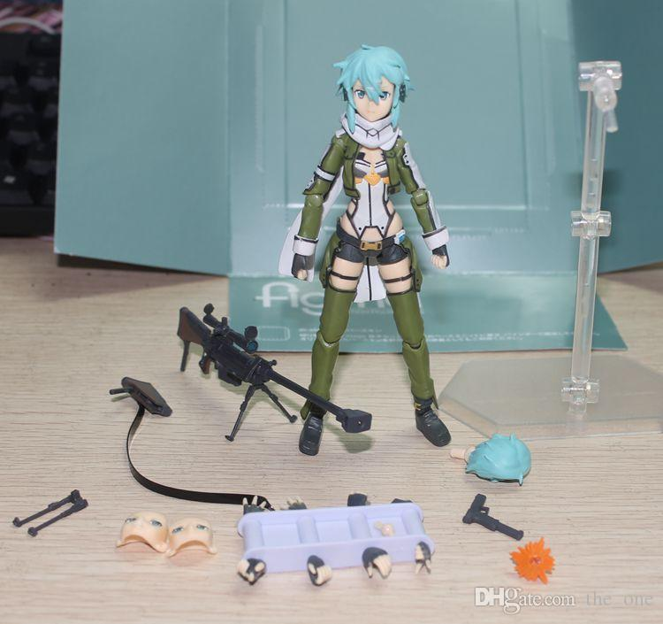 Anime Sword Art Online 2 Figma 241 Sinon Asada Sao 2 PVC Action Figure Collection Model Toys Doll Brinquedos 20cm free shipping in stock