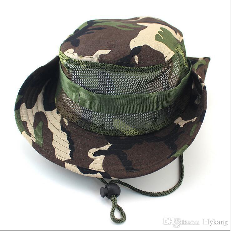traving 메쉬 복장 패션 낚시 해변 태양 모자를 하이킹 야외 스포츠 위장 모자 어부 모자 낚시 모자