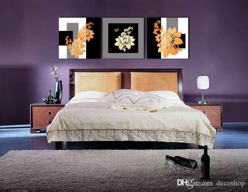 Modernas Belas Flores Finas Pintura Floral Giclee Impressão Na Lona Home Decor Wall Art Set30242