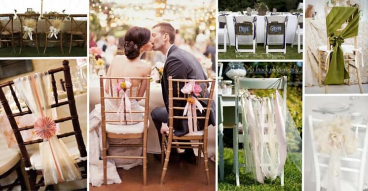 Colorful Organza Chair Sashes Wedding Party Banquet Pearl Yarn DIY Ribbon Bows For Cover