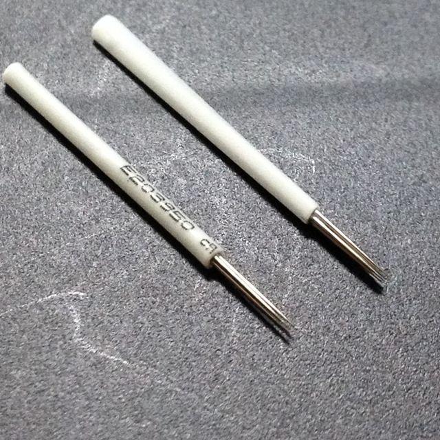 100 pz / lotto 3R Aghi tatuaggio micro lama Sopracciglio Ricamo Trucco Permanente Microblading Sopracciglio forniture manuali aghi