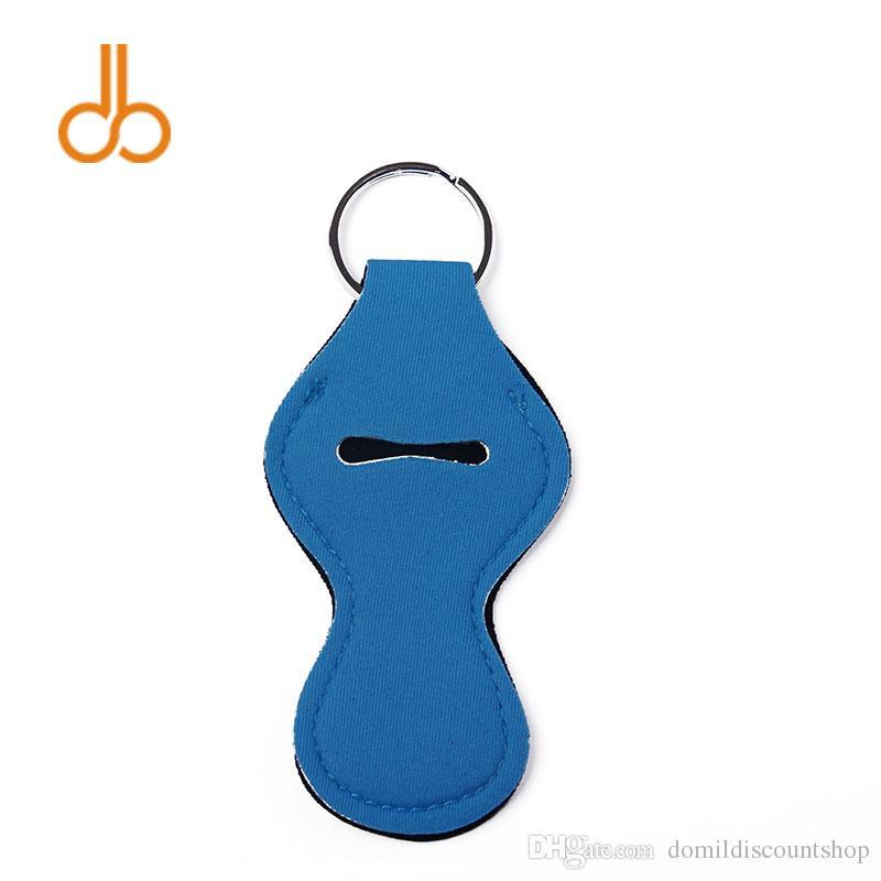 النيوبرين المواد بلون تشابستيك حامل حقيبة مستحضرات التجميل أحمر الشفاه المفاتيح مع حلقة معدنية شحن مجانيDOM103566DOM103566