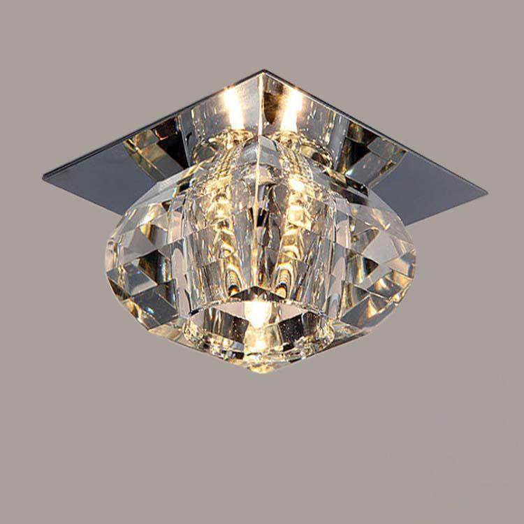 Luz de techo de cristal moderna Balcón LED de luz de techo Lámparas de techo de la sala 3W LED llevó la lámpara de fondo