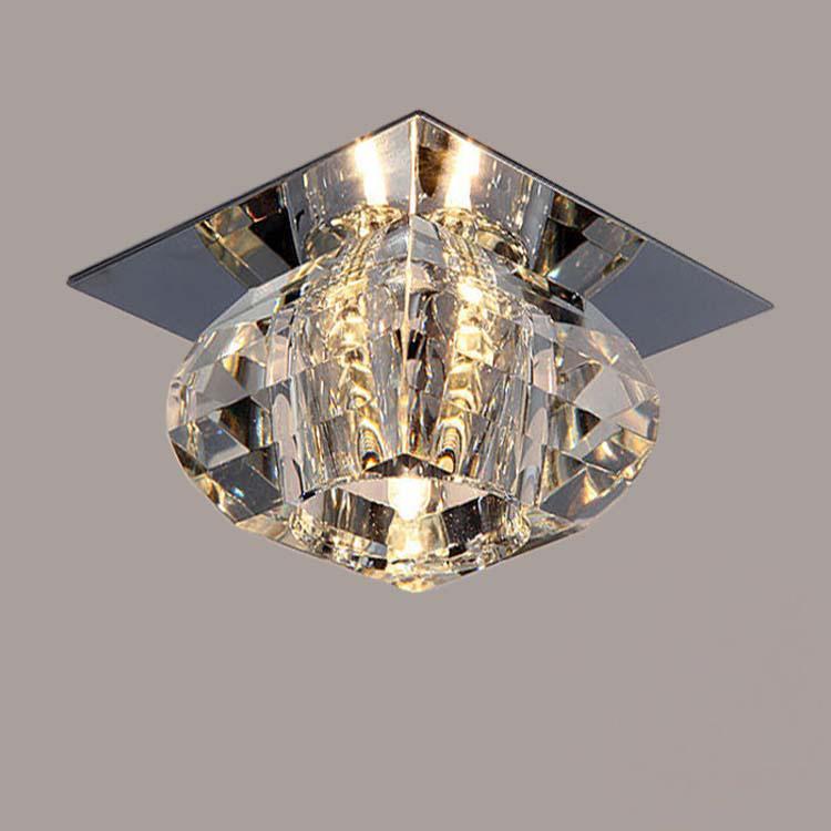 현대 LED 크리스탈 천장 조명 발코니 천장 램프 거실 천장 조명 3W LED 스포트 라이트 주도 배경 램프
