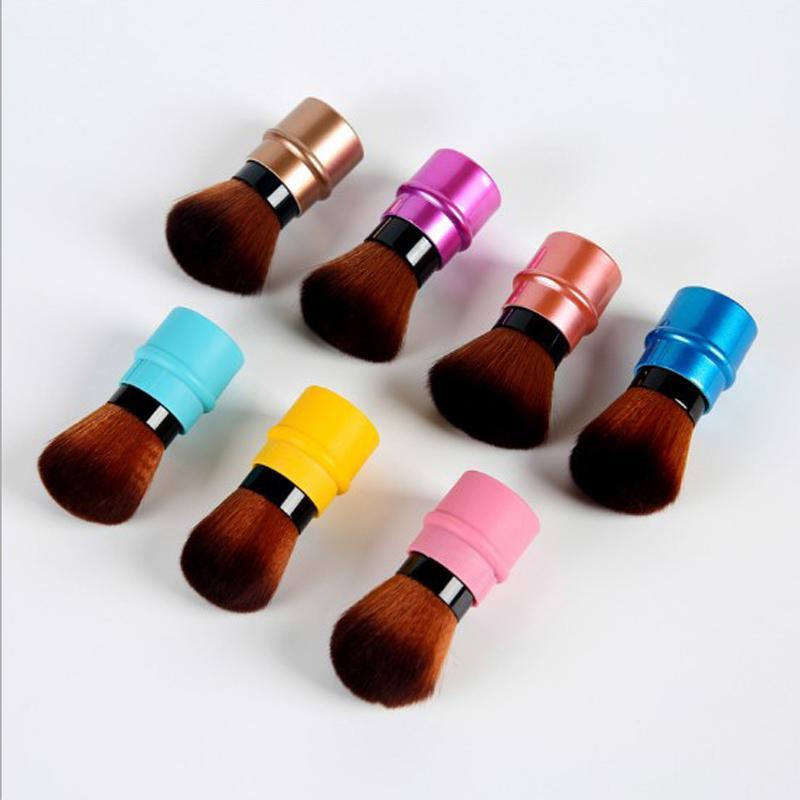 50 adet / çok 9 Renk Tek makyaj Fırça Kozmetik Pudra Allık Yüz Kontur Sıvı Fırça Araçlar Kolay Taşınır