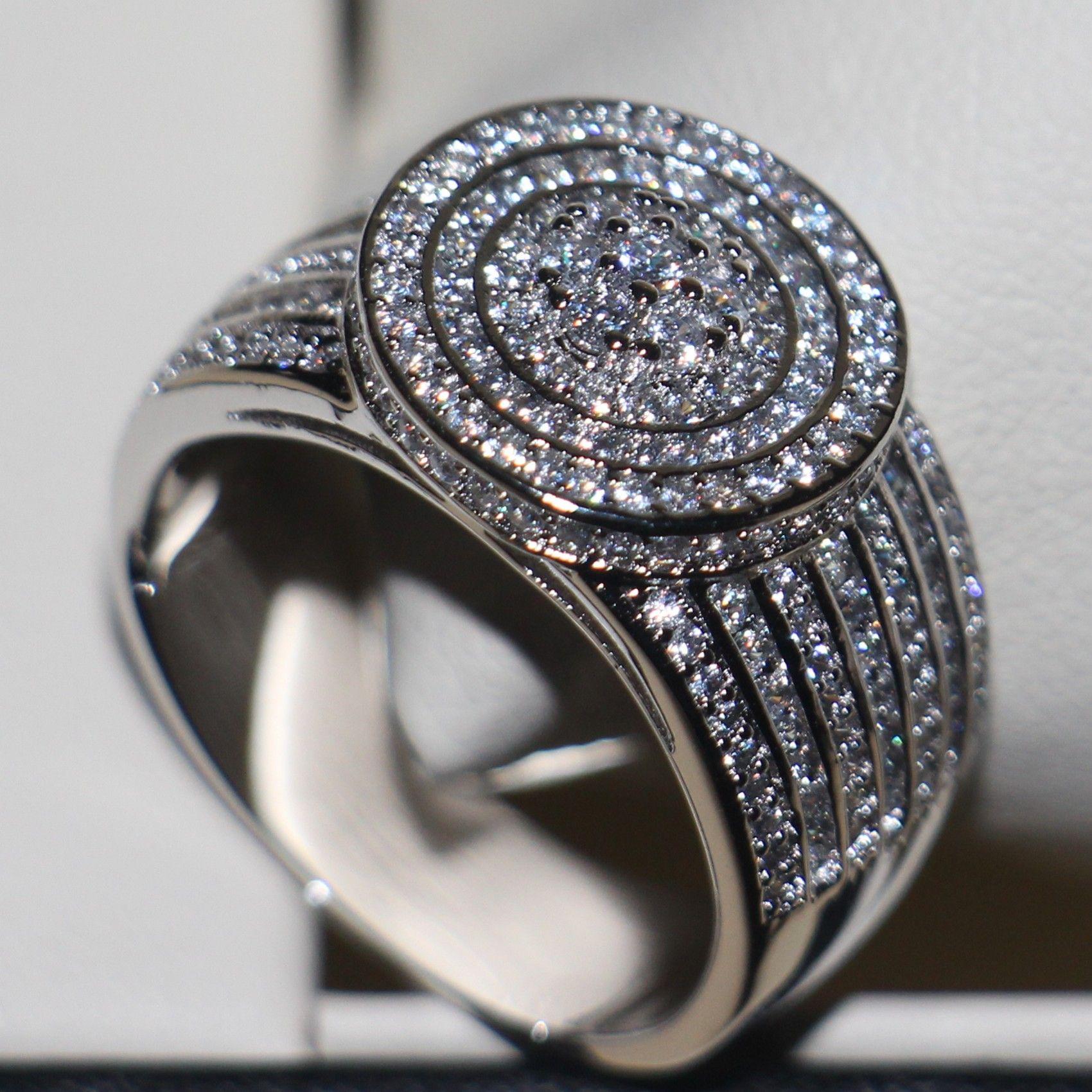 2016 neue Frauen Modeschmuck 925 Sterling Silber 240 STÜCKE Topaz Simuliert Diamant GemWedding Band Liebhaber Ring für Weihnachtsgeschenk Größe 5-11