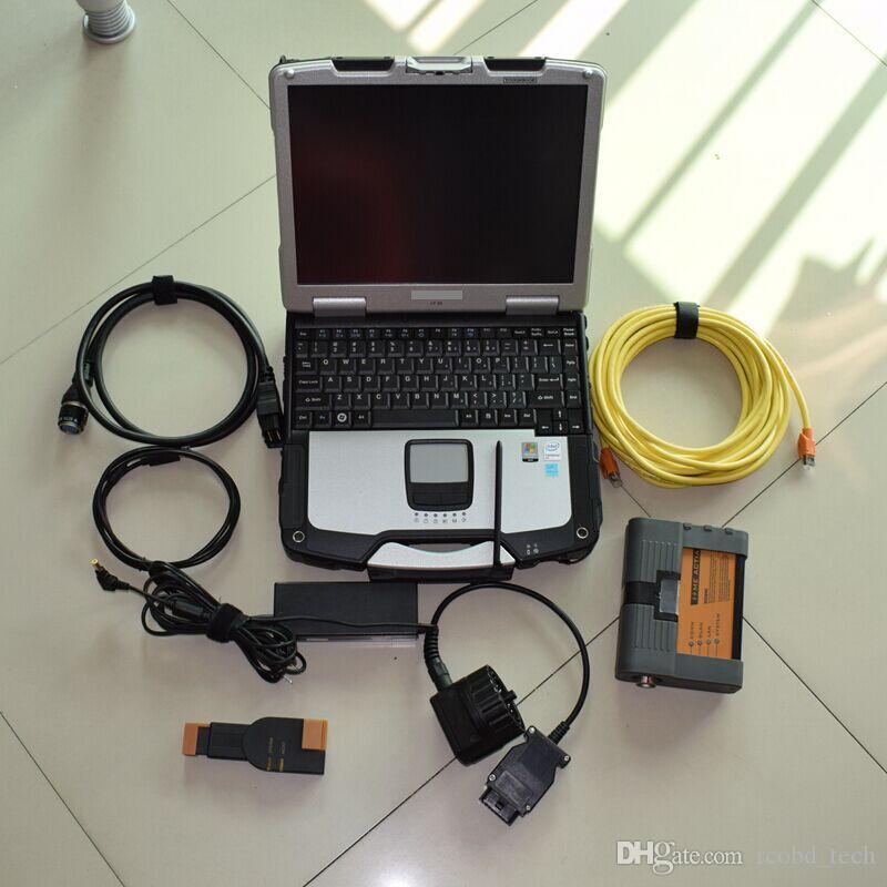 pour BMW ICOM A2 B C Diagnostic Programmation icom a2 avec disque dur avec le nouveau système d'ordinateur portable windows cf30 de Windows 7