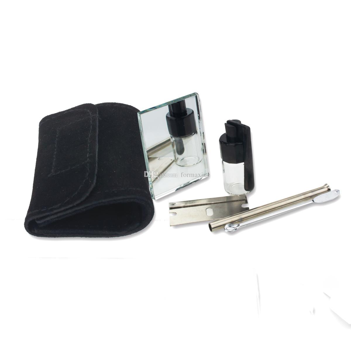 13.5mm x 6,5 mm Kleine Größe Snorter Sniffer Snuff Wildleder Kit Beutel Freies Verschiffen