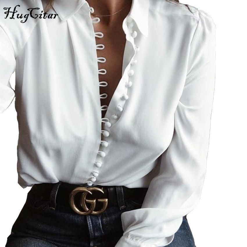 Womens Chiffon Button Office Formal Shirt Long Sleeve Blouse Ladies Casual Tops