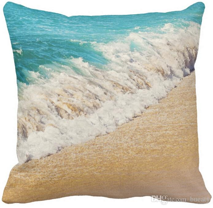 Kauai hawaii beach - cuscino per foto in teal oceano onda 50% cotone e 50% lino colore materiale come mostrato 16x16inch 18x18 inch 20x20 inch