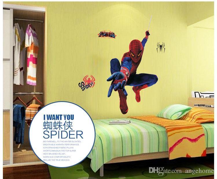 Spider Man 3d Wall Stickers Removable Home Decor Decals Sticker Art ...
