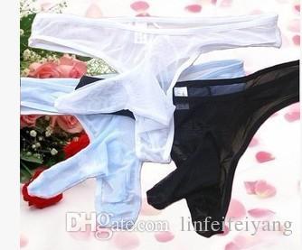 wyprzedaż niska cena 3 szt / partia mężczyzn przezroczyste elastyczne spodnie nosowe bieliznę