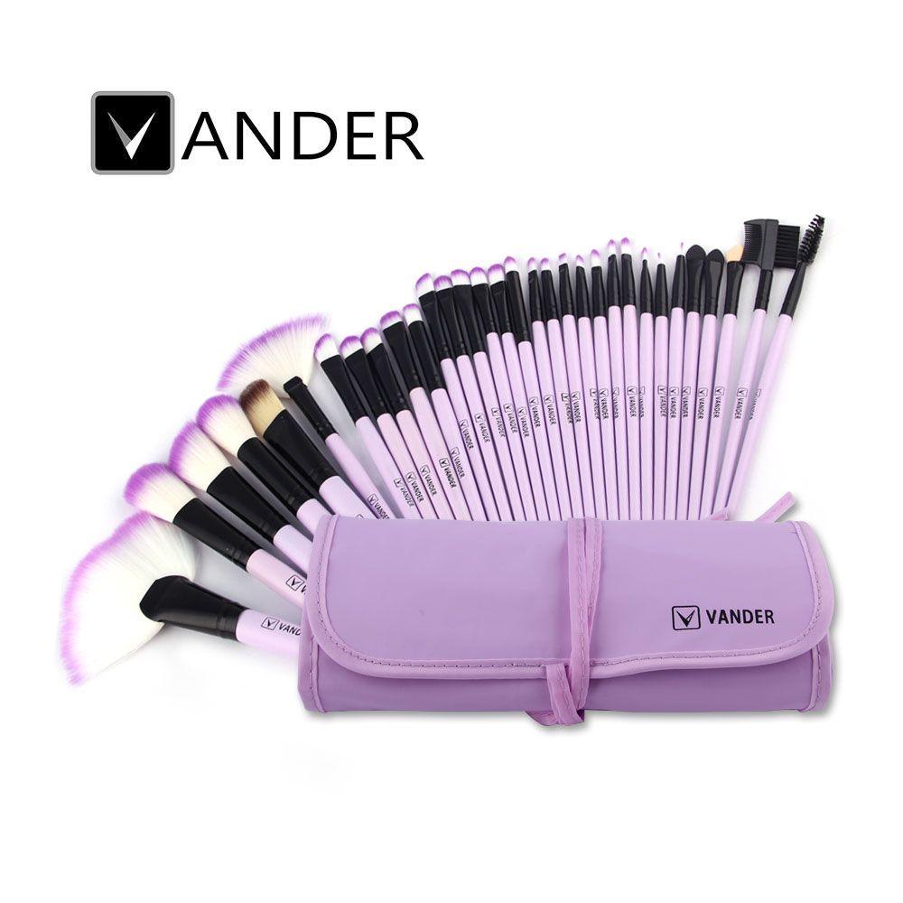 Violet Vander 32 Pcs / Lot Pinceaux Set Fondation FaceEye poudre Pinceaux Cosmétiques Maquillage pinceau de maquillage + Sac pochette cadeau