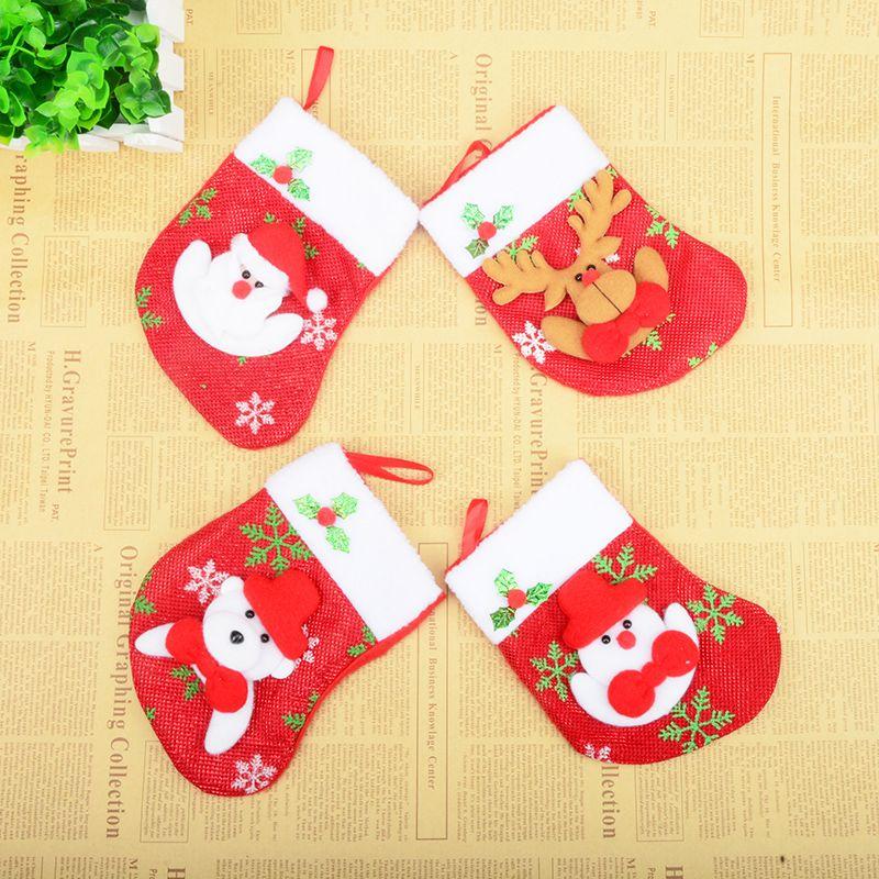 Trasporto libero decorazioni natalizie fiocco di neve grande calza di natale albero di natale che desiderano ciondolo sacchetto regalo di caramelle pupazzo di neve di Natale