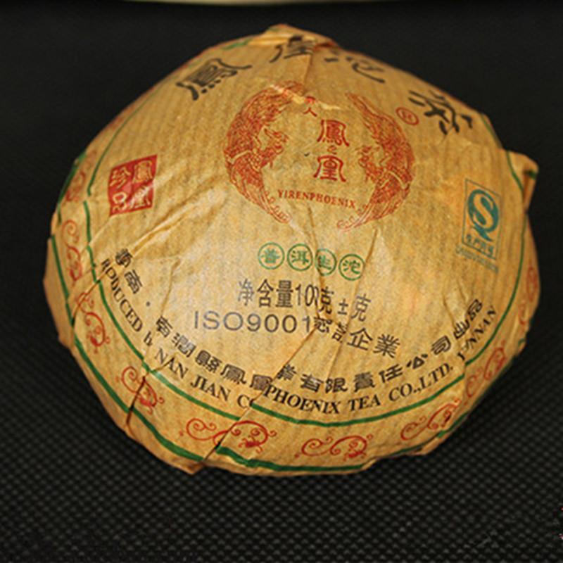 100g grezzo Puer Yunnan Phoenix Marca Tuocha torta Puer organico Pu'er vecchio albero verde Puer naturale Puerh
