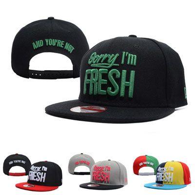 Извините, я Fresh Snapback Caps Шляпы Snapbacks Snap Back Hat Мужчины Женщины Бейсболка Горячие Дешевые Продажа