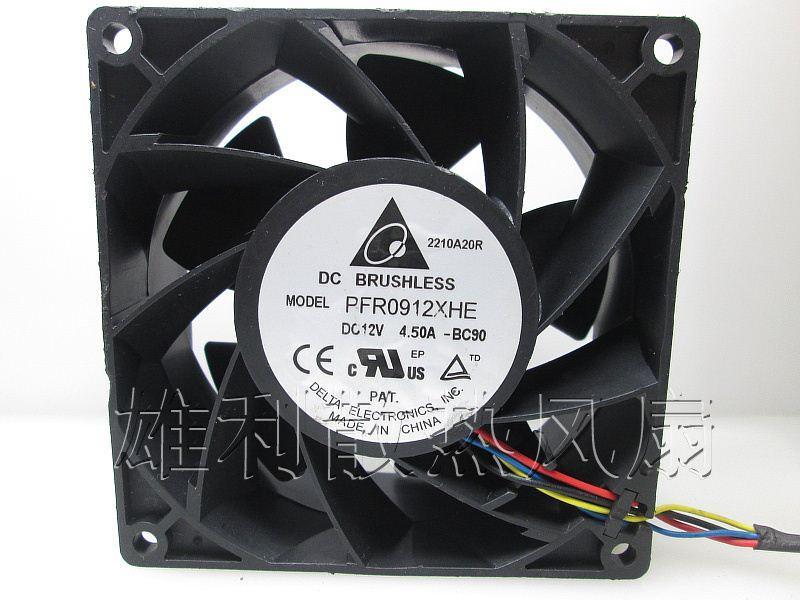 Original para Delta 12 V 4.50A PFR0912XHE 9 CM 9038 4 fios PWM Computador ventilador de refrigeração