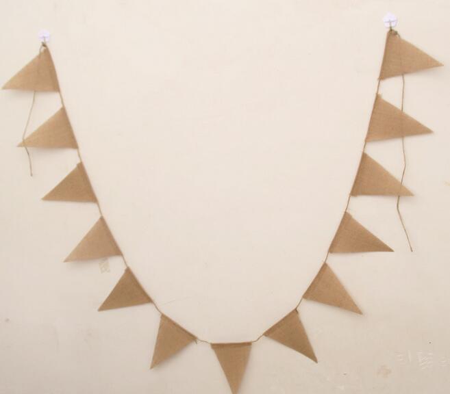 Новое прибытие 3 м старинные джут Гессен мешковина овсянка баннер свадьба фотографии реквизит украшения баннер 13 флагов