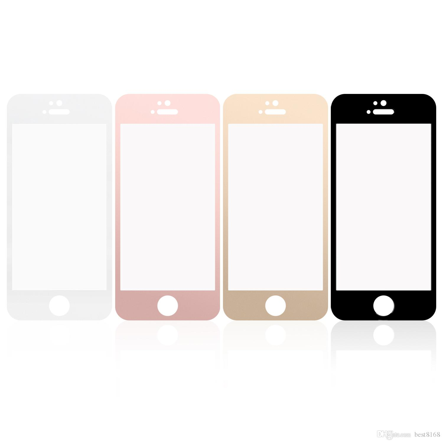 Silk Screen Full Screen Tempered Glass Screen Protector For iPhone 7 7P 6 6S 4 7